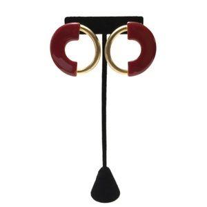 Vintage Modernist Circle Statement Earrings